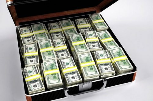 A briefcase with a million dollars.